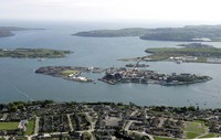 Aerial view of Fortifications within Cork Harbour